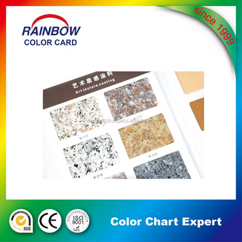 Real stone paint fandeck color card