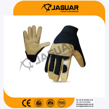 White PU coated work gloves Cowhide Leather working gloves