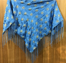 New Brocade Church Scarf with Metallic Flowers woven with Fringes for Oregon & Alaska