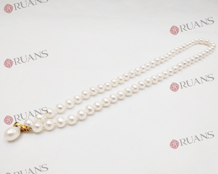 Fresh Water Pearl Necklace With 18K Clasp