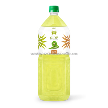 High qulaity FDA, Halal, Iso Haccp 2000ml Pet Bottle kiwifruit juice aloe vera Drink