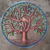 Metal Tree Sculpture Colored Wall Art Decor Hanging Decor Ideas Handmade Haitian Artwork, 60cm