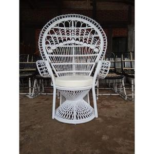 Adult Natural Rattan Peacock Chair For Wedding Chair Indonesia Furniture Products White color