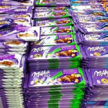 Milka Chocolate 100g - All Flavors. Arabic Text.