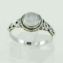 Pretty Design Rainbow Moon Gem Stone 925 Sterling Silver Ring Jewellery Wholesaler India