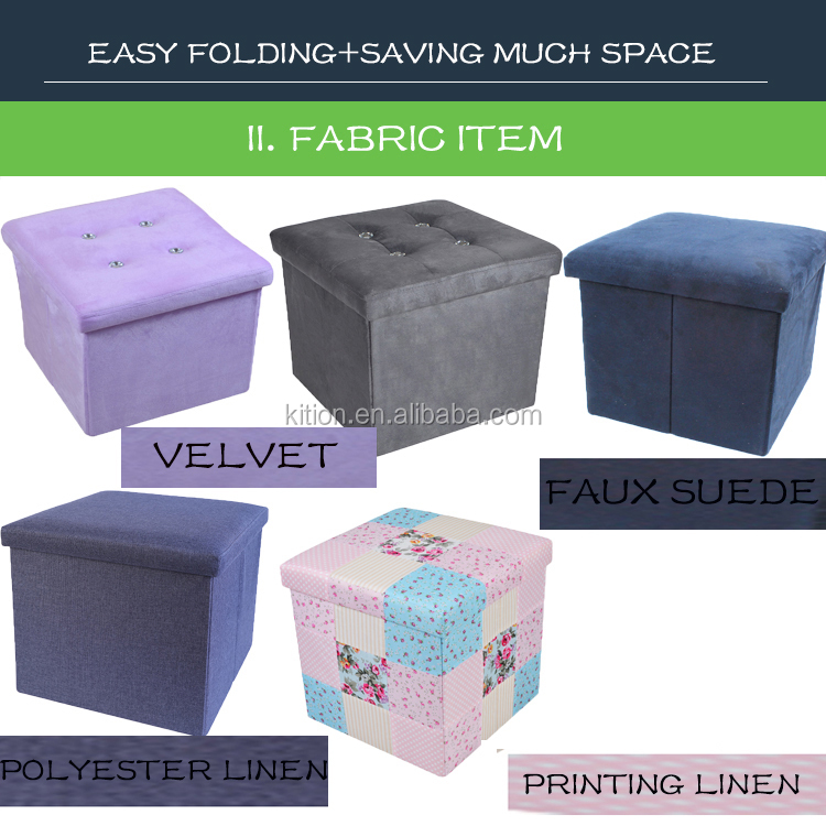 2018 Fashion Lattice Pvc Ottoman