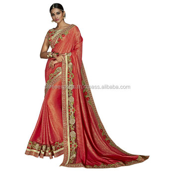 Rust Jacquard Designer Saree / Designer Saree Online Shopping / Sarees on Online Shopping