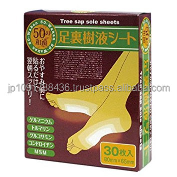 Japanese detox slim foot patch/natural tree sap sole sheet