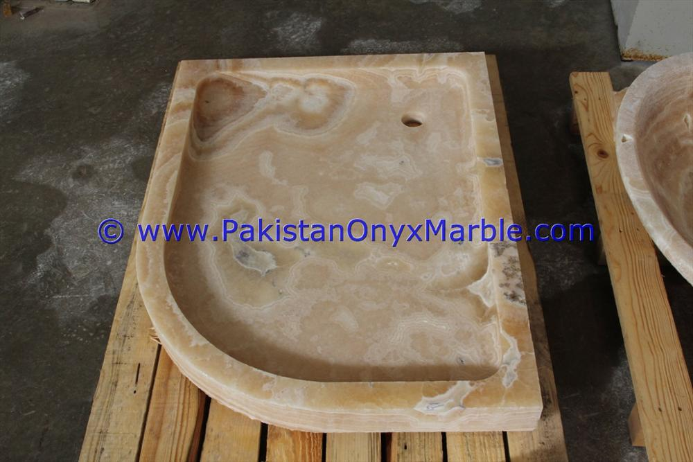 CUSTOM DESIGN AND SIZE ONYX SHOWER TRAYS COLLECTION