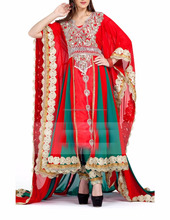 Red color Exclusive Kaftans-Georgette Designer Kaftan pakistani dress for women