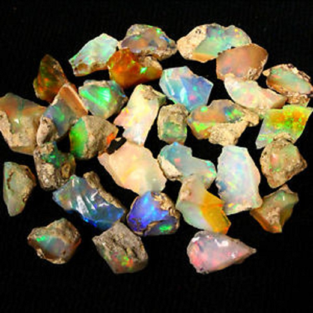ethiopian welo opal rough for sale/Natural Gemstone Type and 20-500 gram Gemstone Weight raw amber