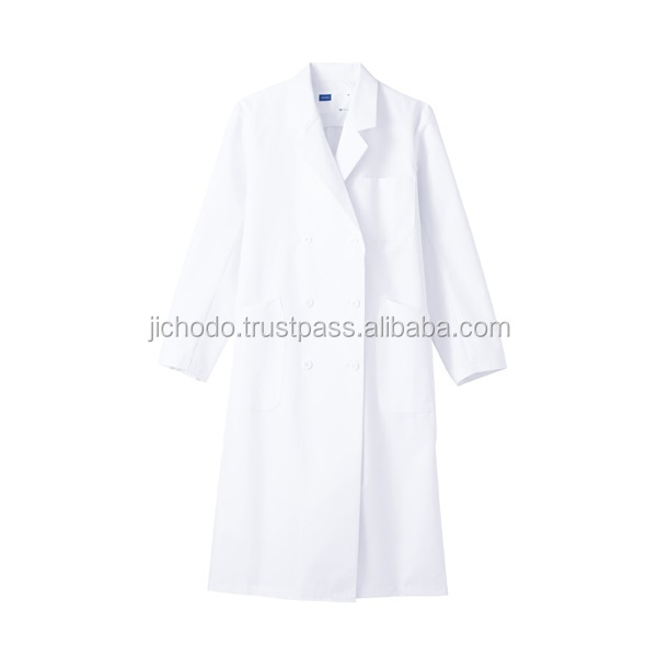 women medical workwear / Double-breasted coat ( E80% C20% poplin ). Made by Japan