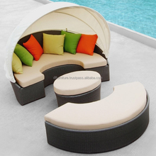 Poly Rattan Outdoor / Garden Furniture - Round sun bed