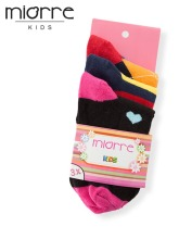 MIORRE Kids' Girl OEM New 2017 Season Cute 3 Pack Different Model Cotton Socks