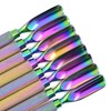 Stainless Steel Rainbow Multi-Color Cuticle Nail Pushers