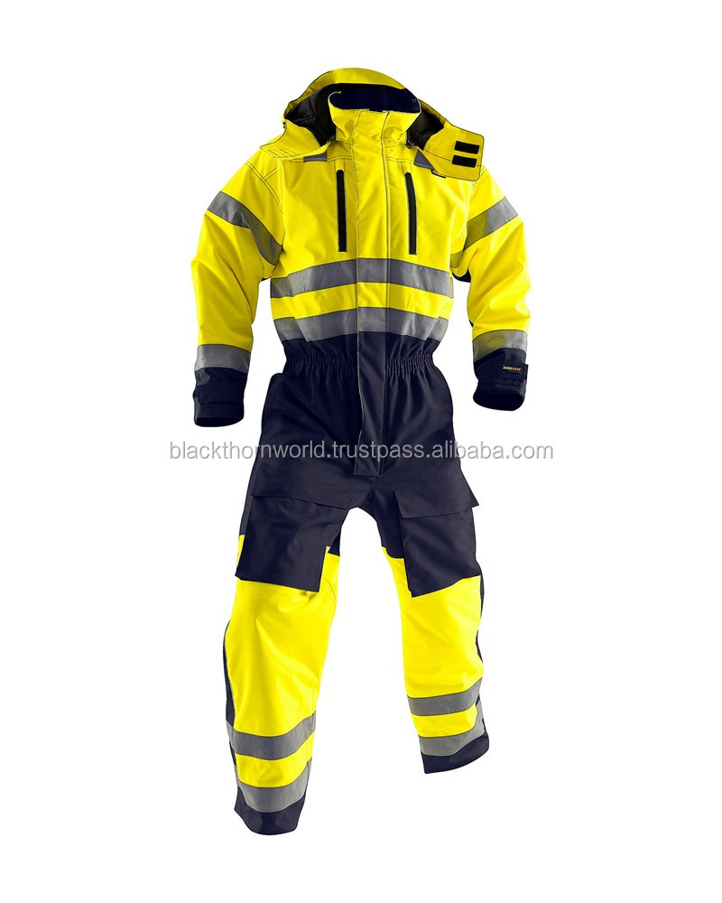 OEM Work Wear jacket suit with Reflective tape and cordura fabric high quality
