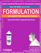 Formula document for Epoxy Boat Patch Compound Cum Sealer