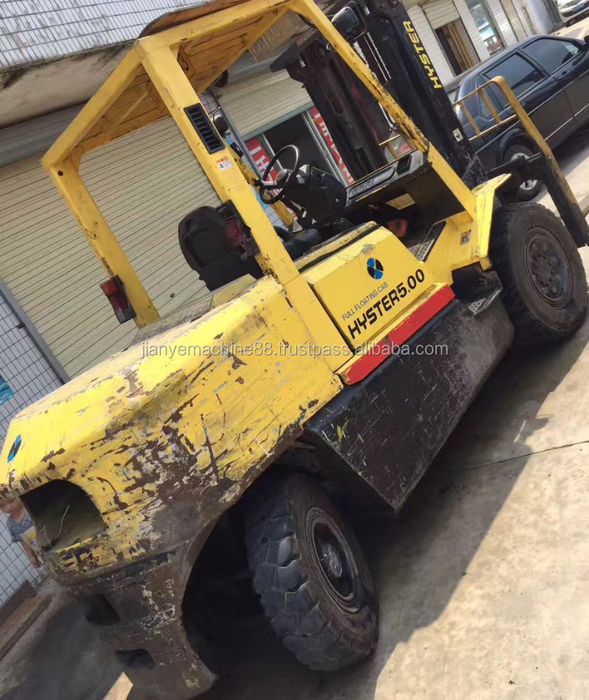 cheap used 5 ton mini hyster diesel forklift truck for sale