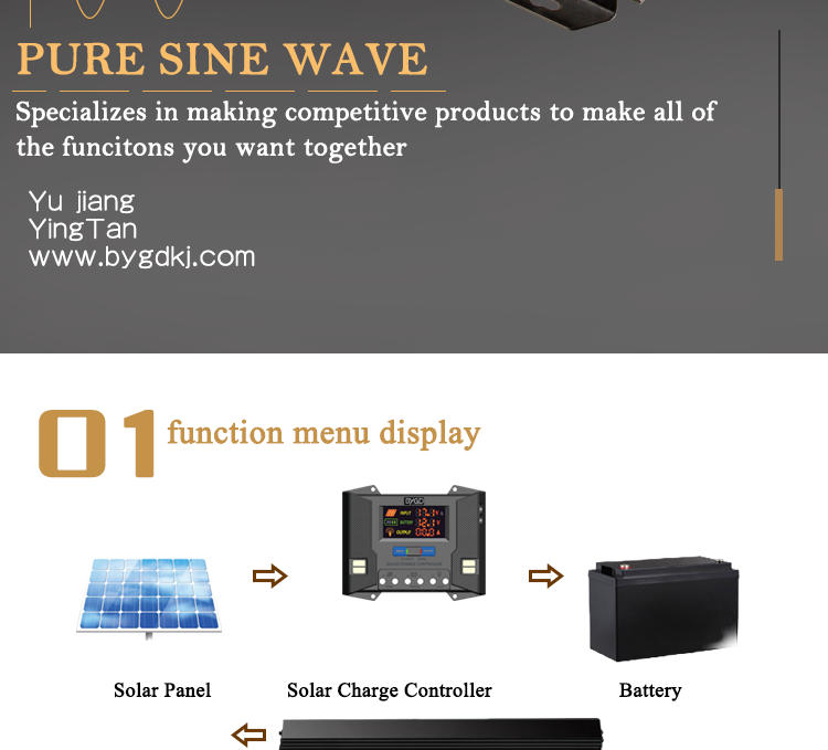 300W 500W 750W 1000W 1500W 2000W 2500W 3000W Pure Sine Wave Solar Power Inverter 12V 220V