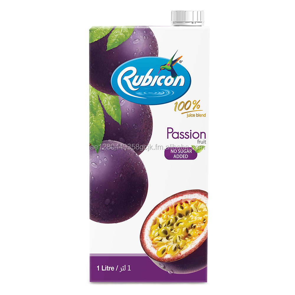 Rubicon Passion Fruit 100% Juice Blend - No Sugar added 1ltr