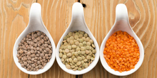 Red Football Type Lentils / Split Red Lentils and Whole red Lentil
