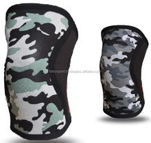 Knee Sleeves - One Pair of 5 mm Neoprene Knee Support & Compression for Weightlifting, Powerlifting with Carrying Bag