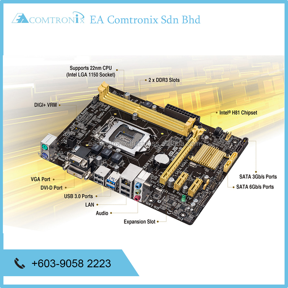Brand New Motherboard H81M-K / C / S / D