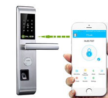Hidden Key Hole Biometric Fingerprint Smart Door Handle Lock