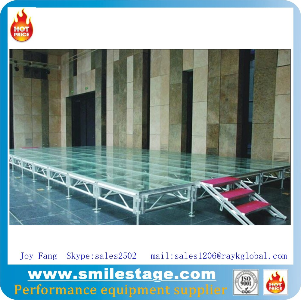 stainless steel fashion indoor/outdoor festival factory portable mobile stage on display