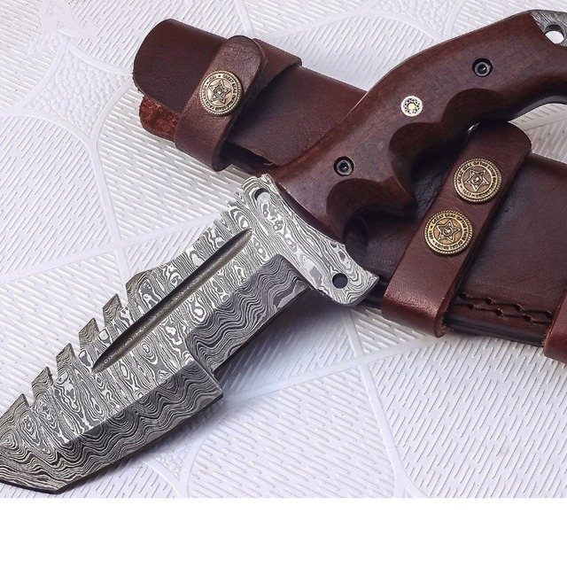 Hand made Damascus Steel Tracker knife