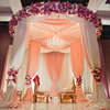 China wedding flower stand centerpieces fiber wedding mandap decoration