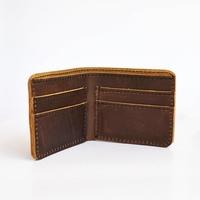 Veg Tan Leather Billfold Wallet