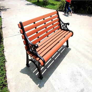 Lounge plastic wood composite garden park long bench slats beach chair for heavy people of home anindo furniture