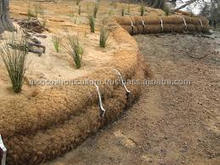 Coir Logs for River Bank Installation
