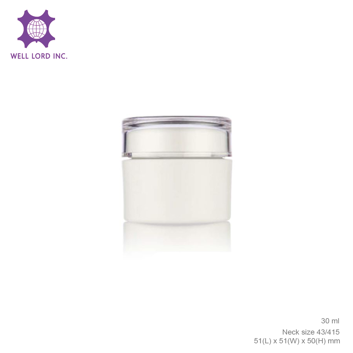 Wholesale Empty Plastic Clear Makeup Jar Cosmetic Cream Face Powder Blusher Foundation Container pharmacy plastic jar