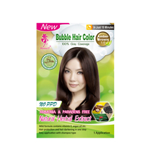 Bubble hair color shampoo - hair darkening with halal certified ( 3 colors)