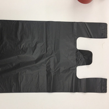 Black Handle T-shirt HDPE Plastic Trash Bag for Wholesale
