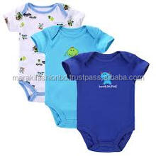 Wholesale 2017 new arrival 100%cotton baby romper baby clothes set.