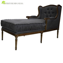 Antique French lazy Lounge sofa bed wooden french provincial furniture with Upholstered living room furniture