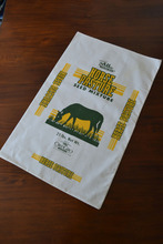 Grass Seed Packaging Bag made with 100% Cotton. Printed