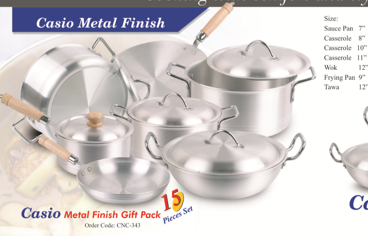 Metal Finish Cooking Gift Pack Set 15 pieces