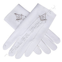 Masonic Cotton Gloves |Masonic Regalia White cotton Gloves