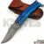 Custom Hand Forged Damascus Steel Pocket / Folding Knife with Engraved Color Steel Handle