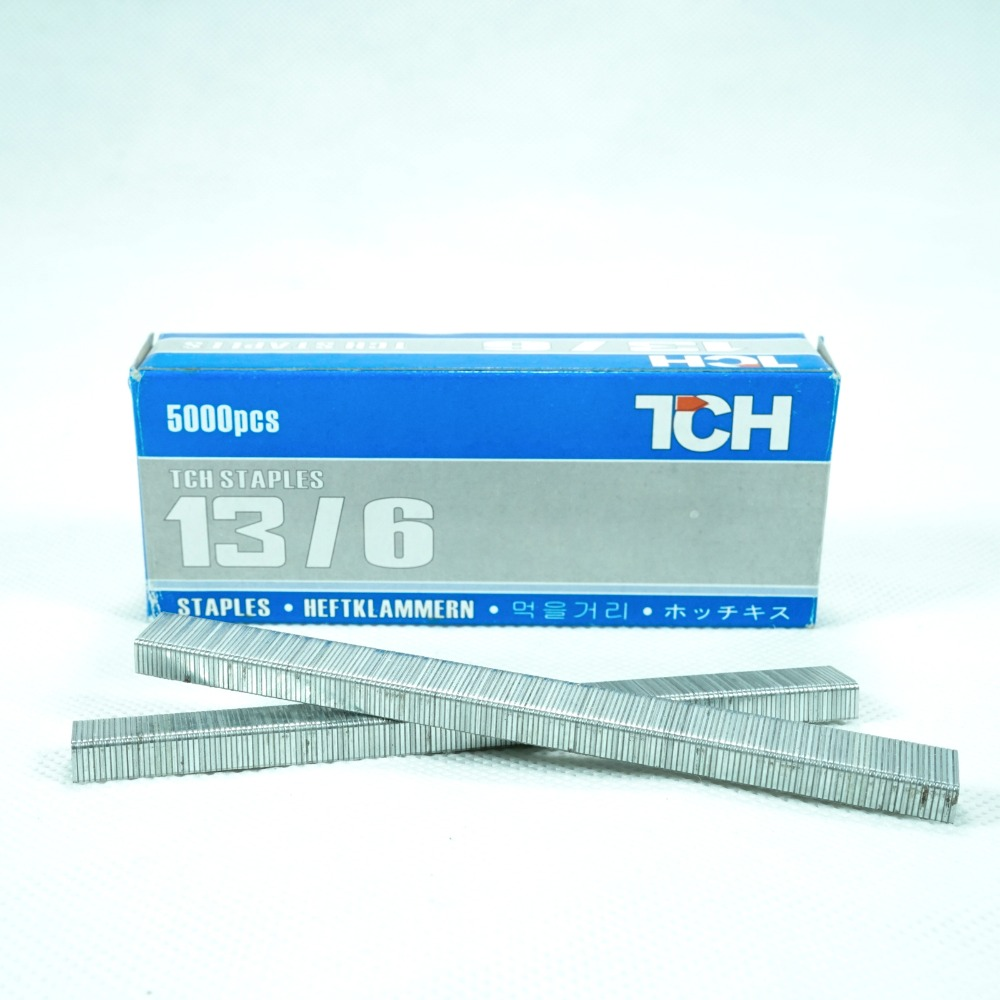 Staples 13/6 13/8 Tacker Office use for wood wall Isi Steples Tembakan 4 6 8 mm jok kulit motor