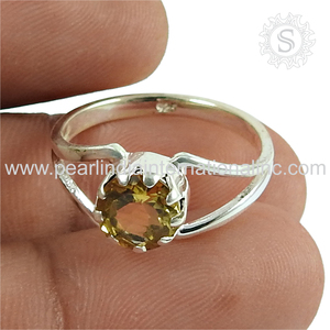 Trendy citrine gemstone silver rings offers 925 sterling silver rings wholesale jewelry suppliers