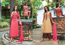 Sadaa Bakeri UnStithed Three Piece Glace Cotton Salwar Kameez Salwar Suit Indian & Pakistani Wear