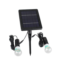 Manufacturer Wholesale Xinree SL-40B 1.8W Outdoor Lawn Solar Lamp Two Bulbs Light with Solar Operated Panel