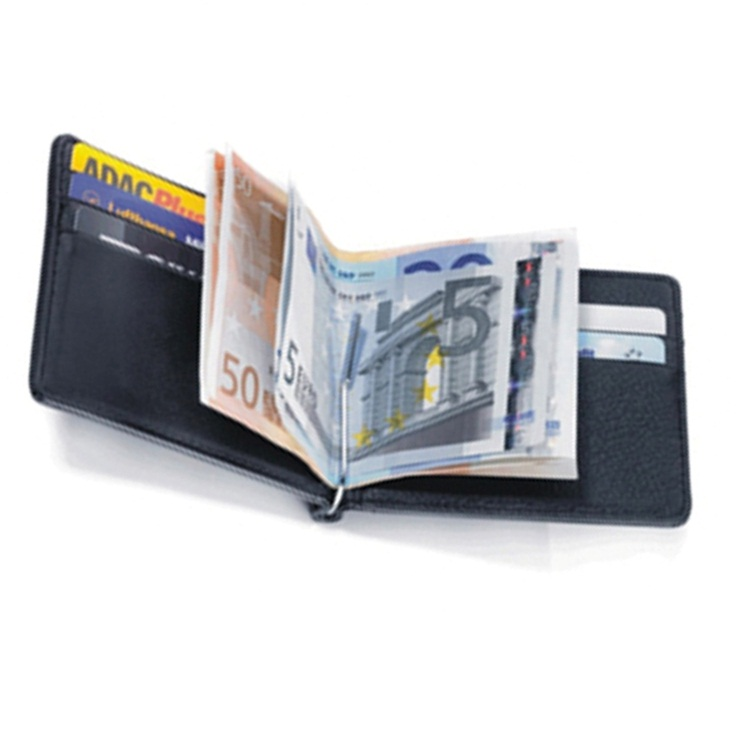 RFID Blocking Bifold Leather Minimalist Inside Pocket Wallets For Men's With Money Clip