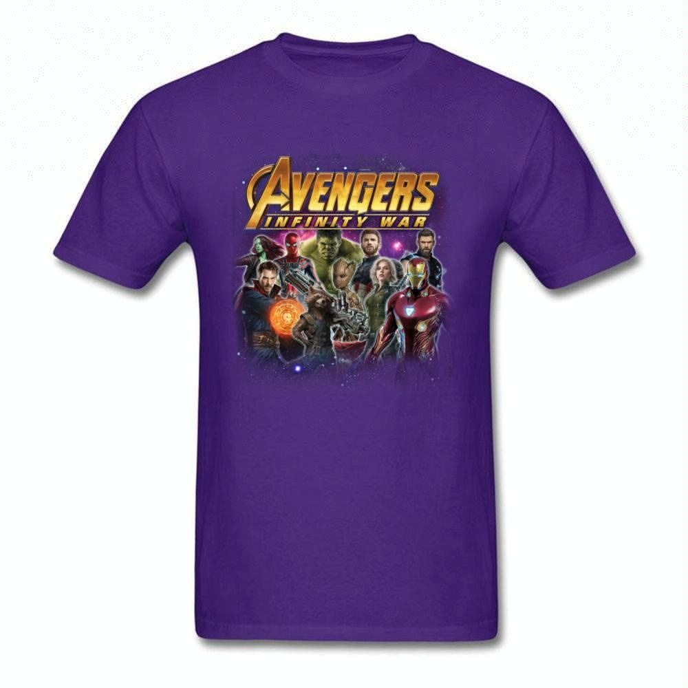 2018 Fashion Avengers T-shirt Men Black T Shirts Cotton Tops Tees 3D Movie Funny Clothes Custom