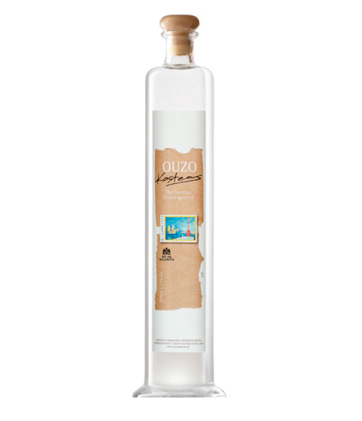 """ Stamp "" Traditional Greek Ouzo - Alcoholic Spirit Beverage Aromatic Aperitif Drink in 500 ml Glass Bottle"